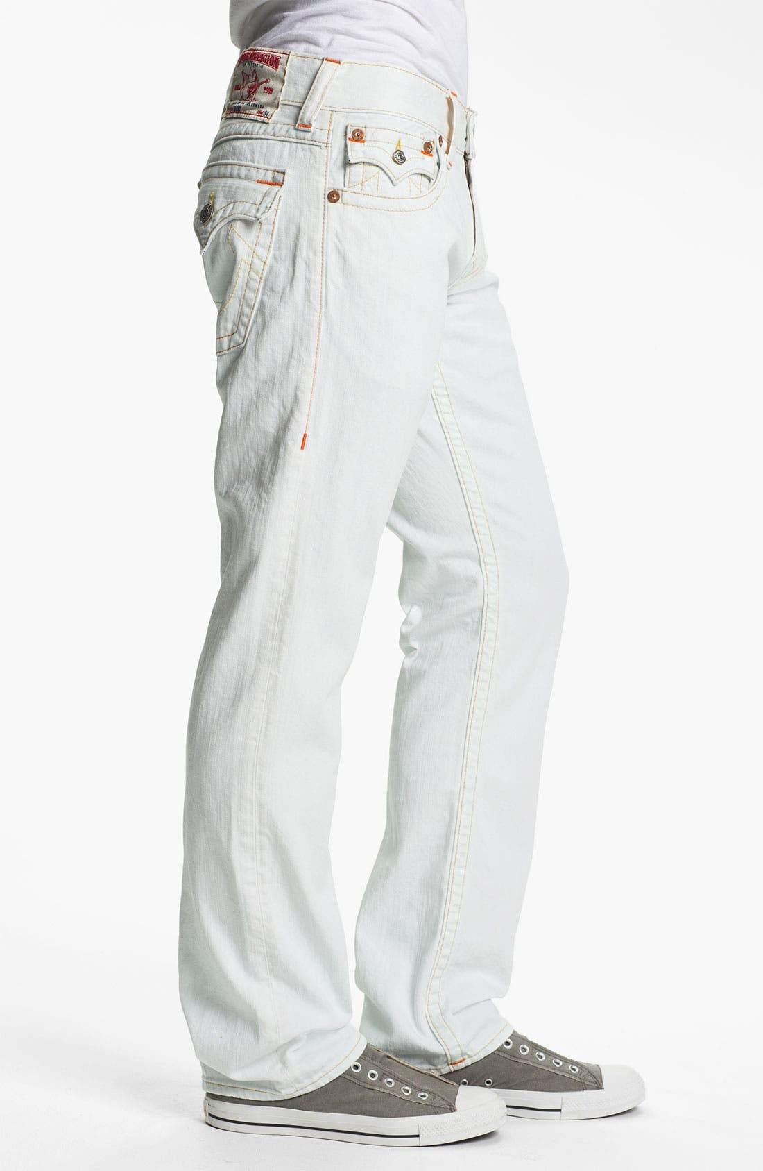 Alternate Image 3  - True Religion Brand Jeans 'Ricky' Straight Leg Jeans (Bleached) (Online Exclusive)