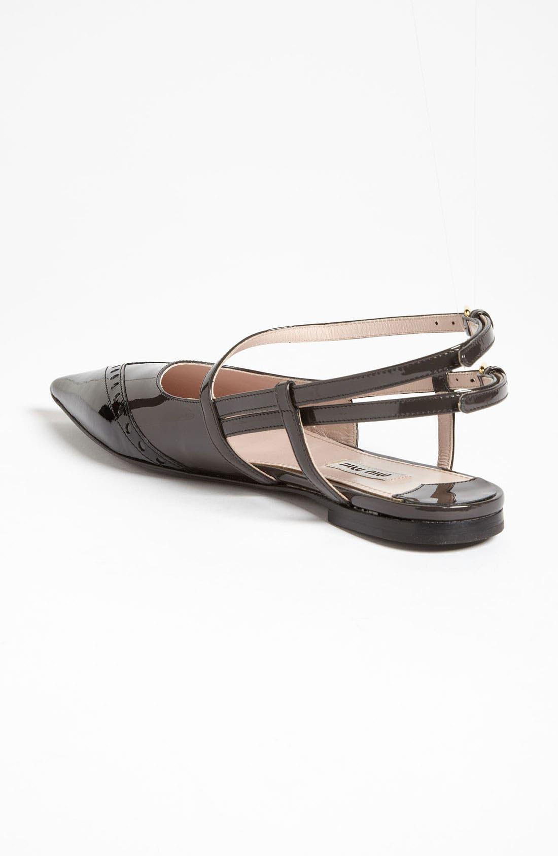 Alternate Image 2  - Miu Miu Pointed Toe Ballet Flat (Nordstrom Exclusive)