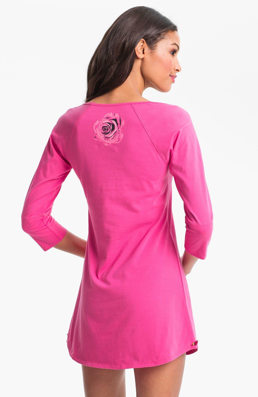 Alternate Image 2  - Betsey Johnson Stretch Cotton Sleep Shirt