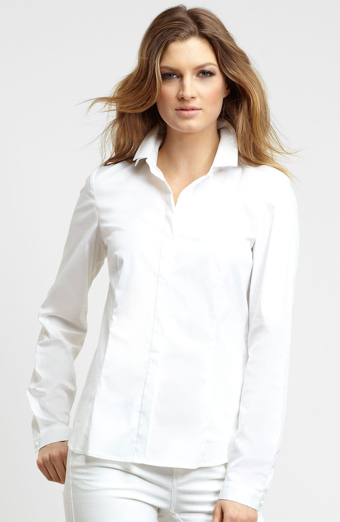 Alternate Image 1 Selected - Lafayette 148 New York 'Elan' Double Collar Blouse