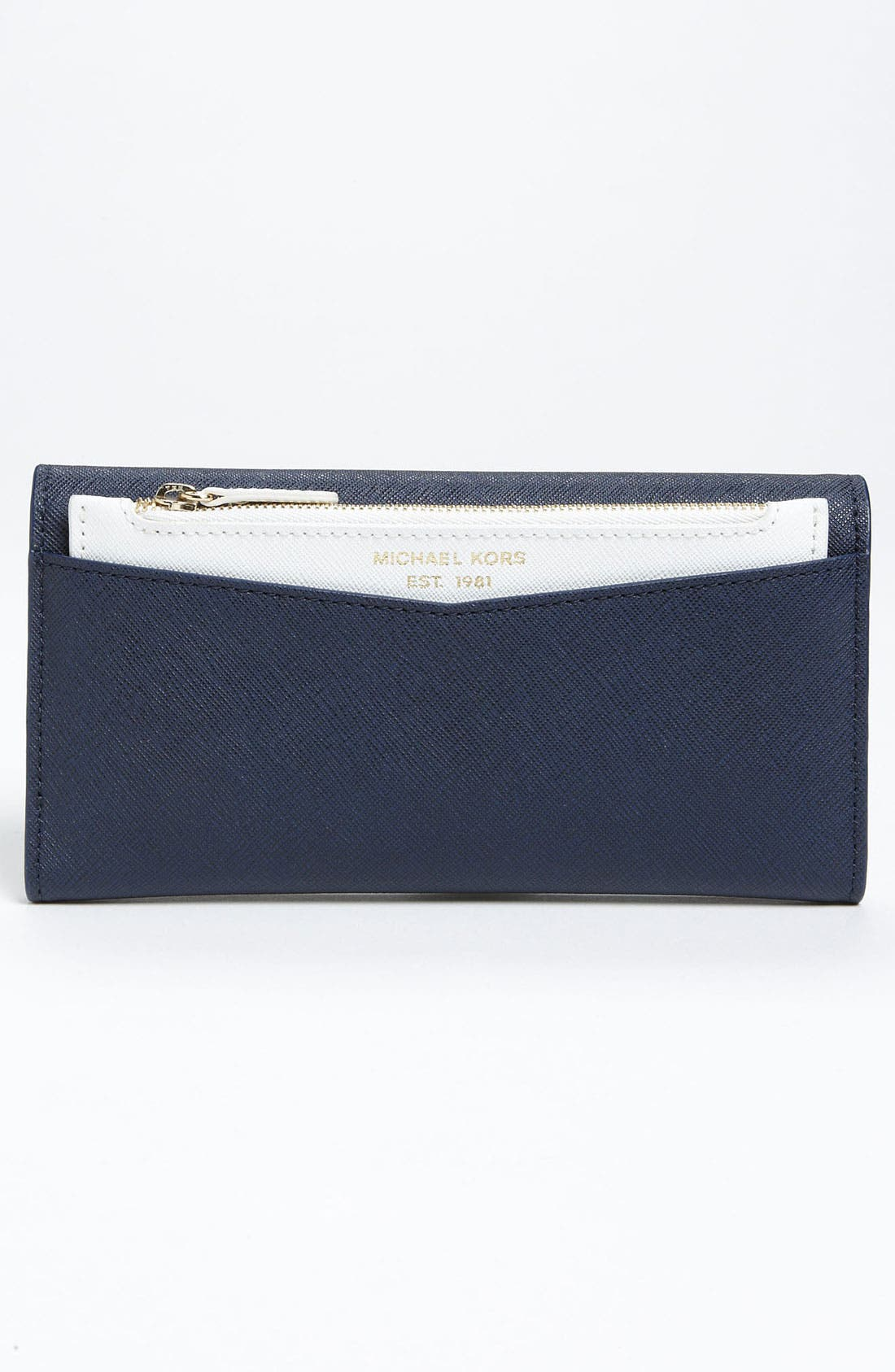 Alternate Image 4  - MICHAEL Michael Kors Saffiano Carryall Wallet