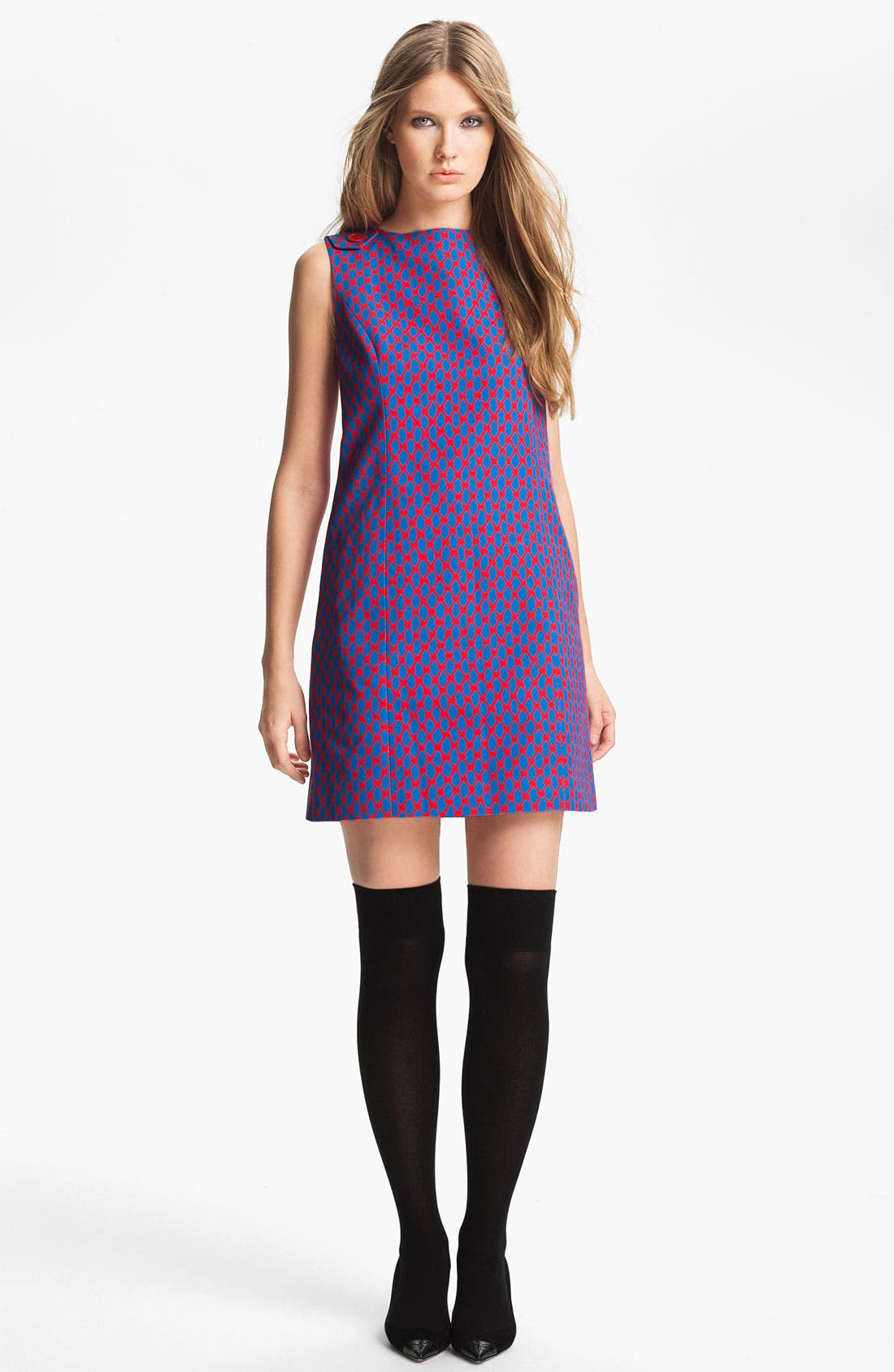 Main Image - Miss Wu Geometric Print Faille Dress (Nordstrom Exclusive)