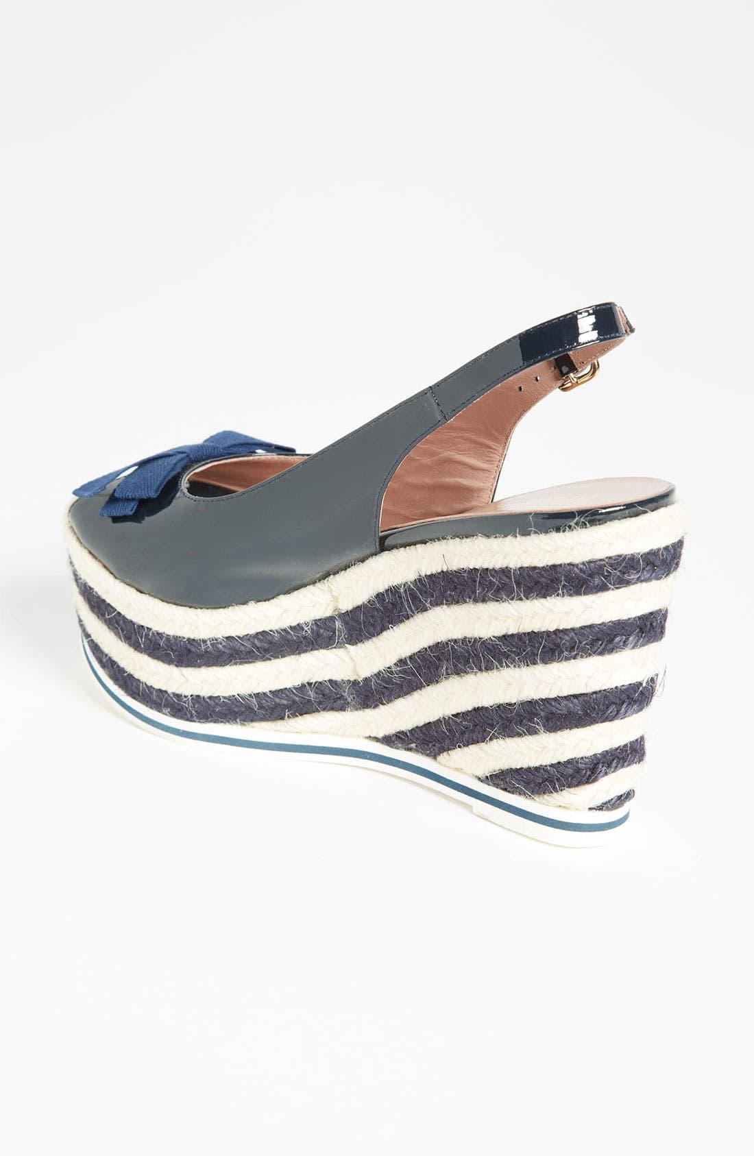 Alternate Image 2  - RED Valentino Stripe Wedge Sandal