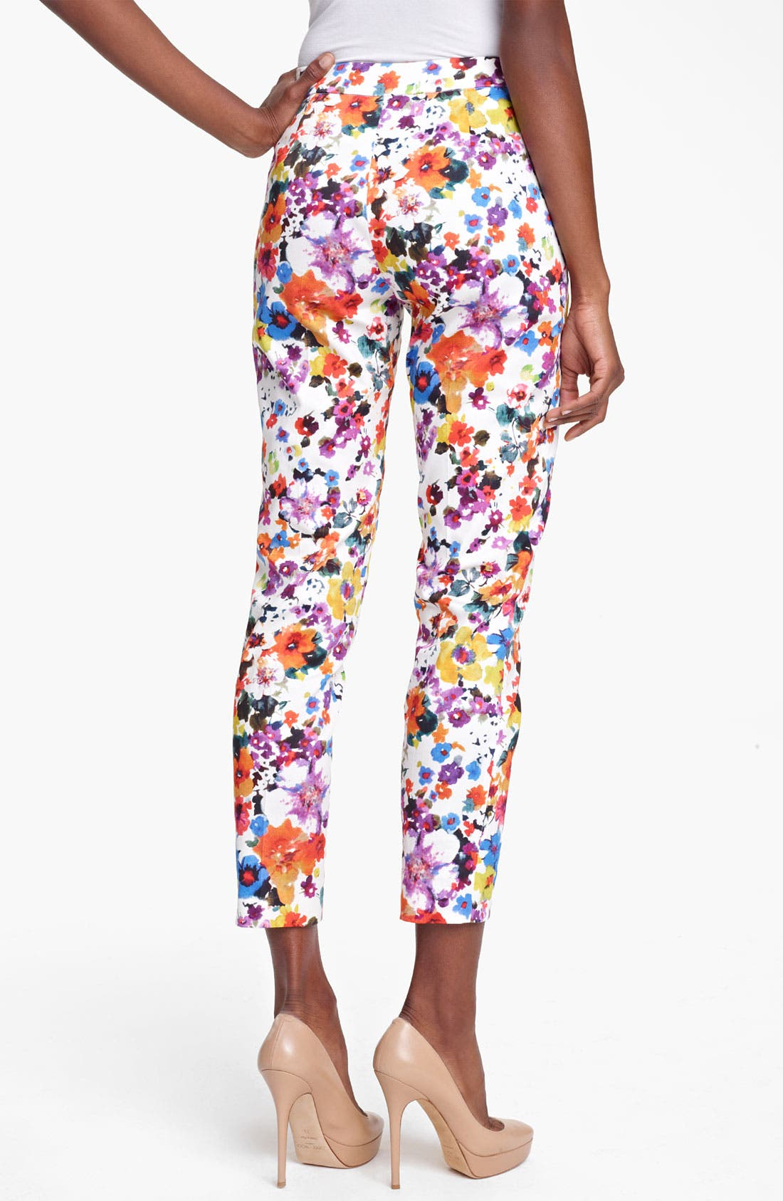 Alternate Image 2  - Max Mara 'Friscia' Floral Print Stretch Cotton Crop Pants