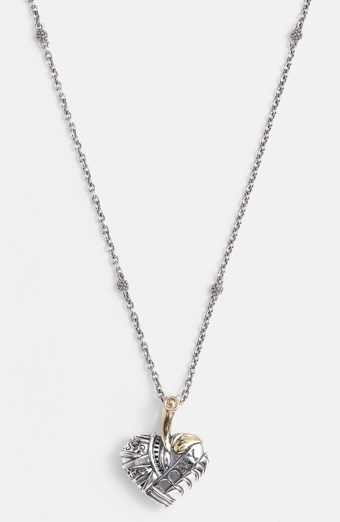 Alternate Image 2  - Lagos 'Hearts of Lagos - New York' Pendant Necklace