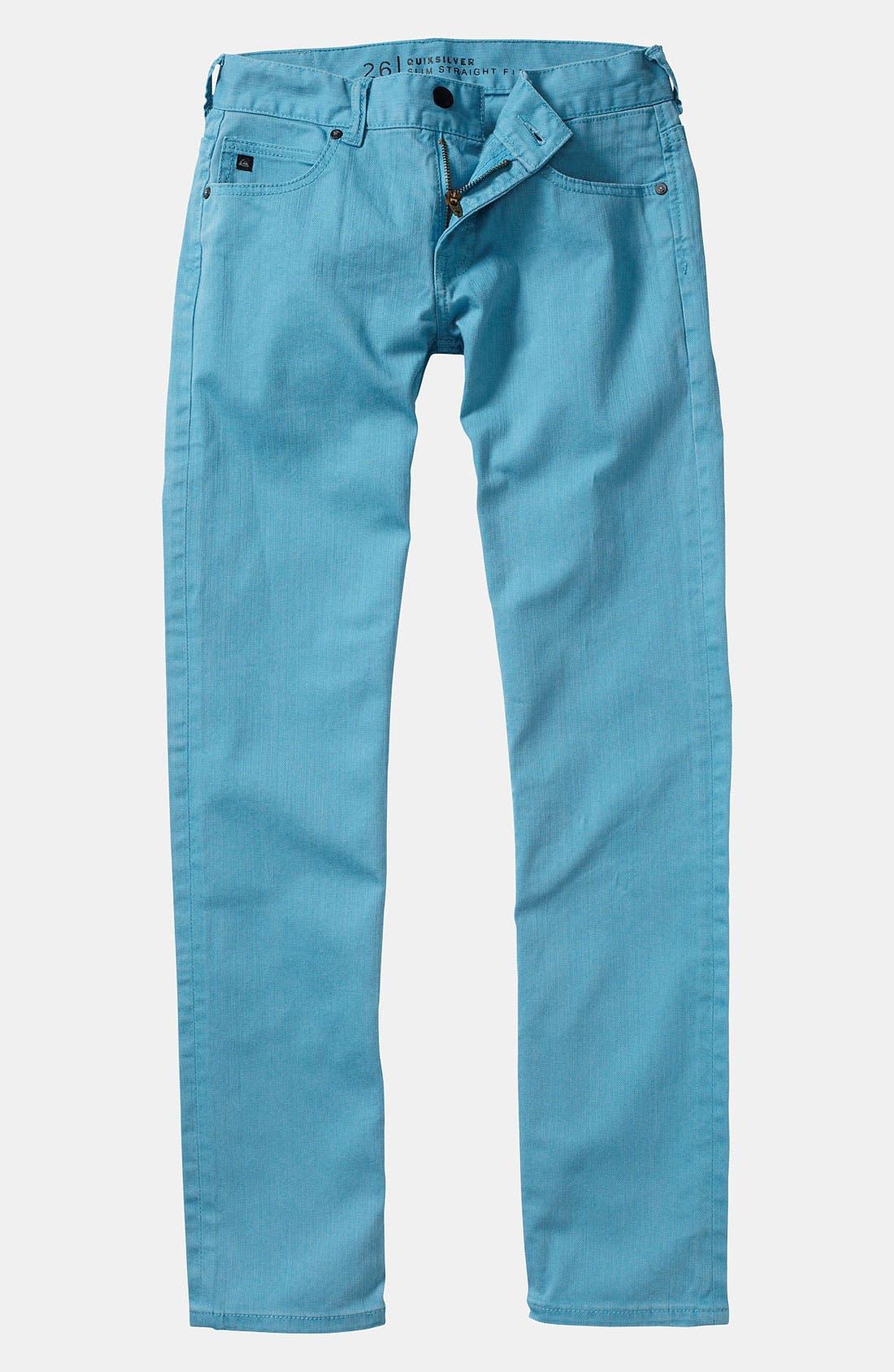 Alternate Image 2  - Quiksilver 'Distortion' Slim Straight Leg Jeans (Little Boys)