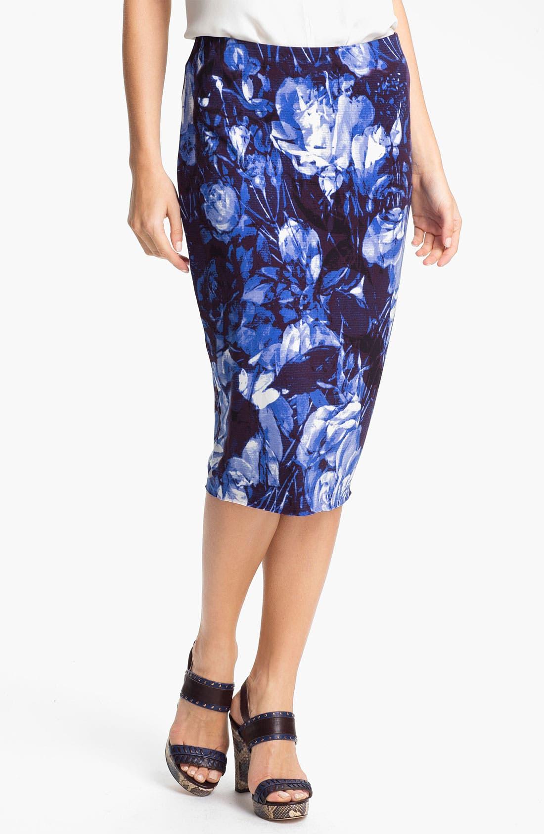 Main Image - Vince Camuto Floral Midi Tube Skirt