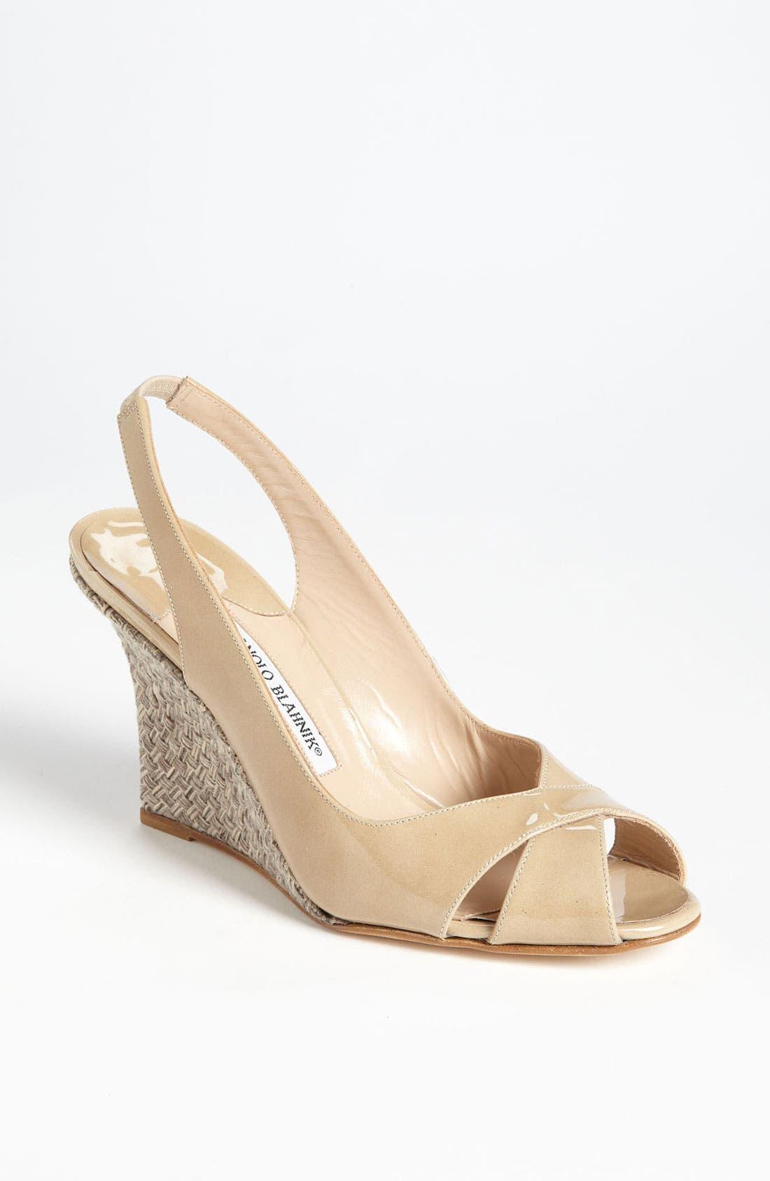 Alternate Image 1 Selected - Manolo Blahnik 'Shala' Wedge Sandal