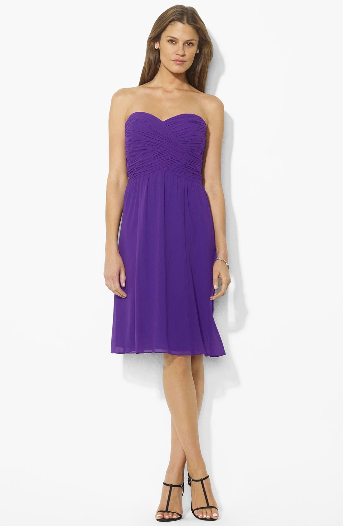 Main Image - Lauren Ralph Lauren Ruched Sweetheart Dress