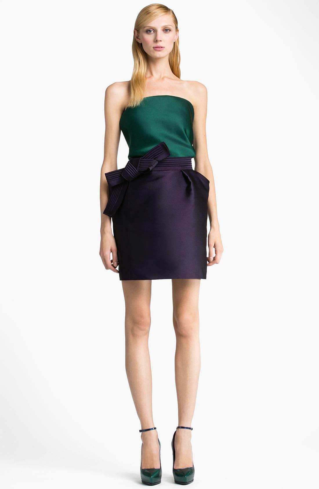 Alternate Image 4  - Lanvin Bow Detail Techno Skirt