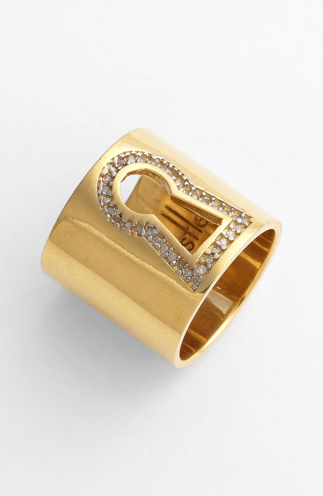 Main Image - Kelly Wearstler Diamond Pavé Keyhole Ring