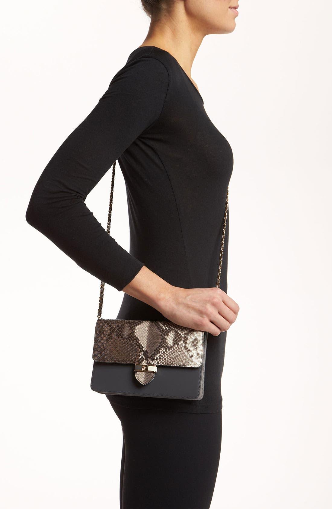 Alternate Image 2  - Fendi 'Mini' Genuine Python Crossbody Bag