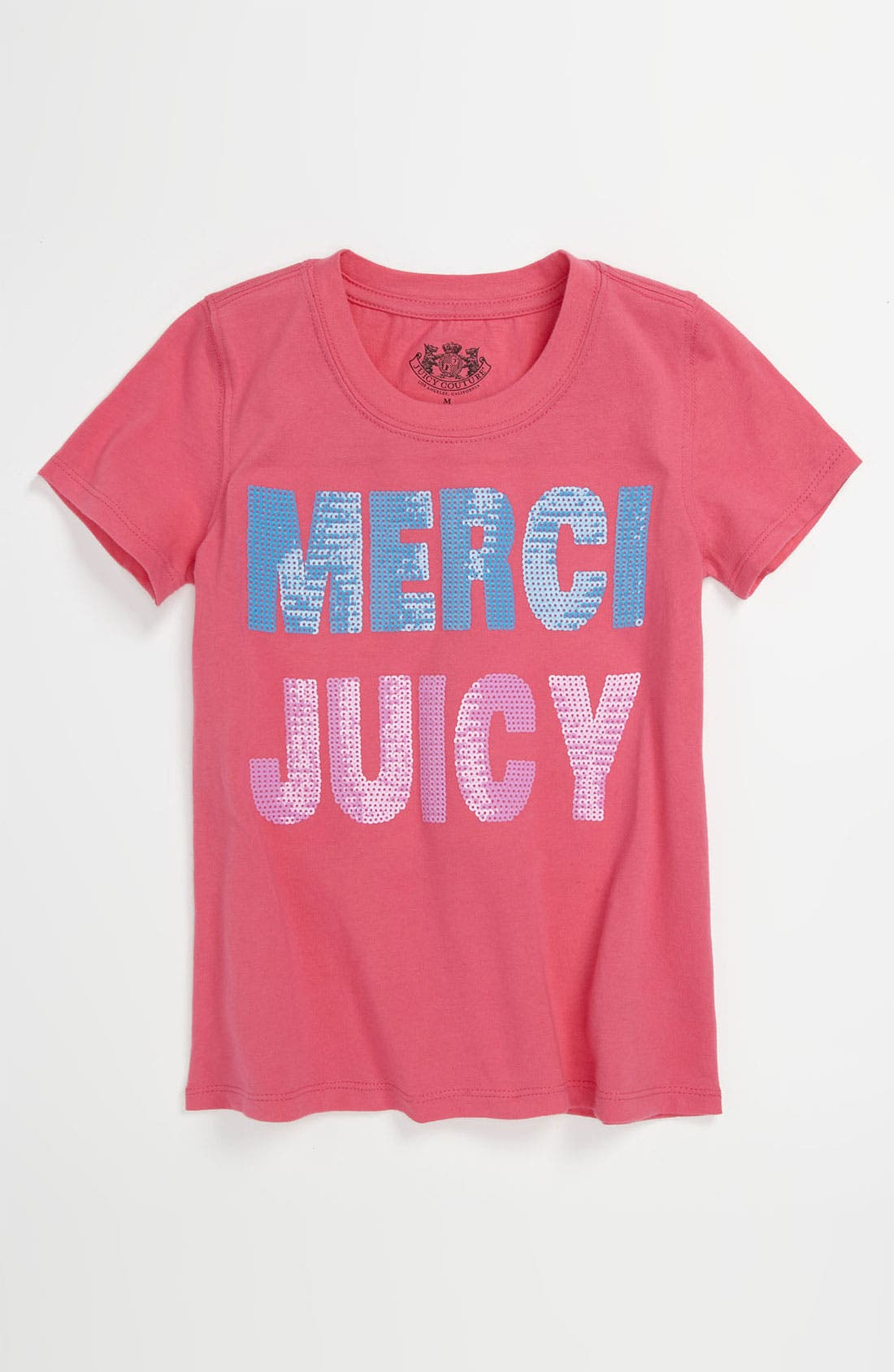 Alternate Image 1 Selected - Juicy Couture 'Merci Juicy' Tee (Little Girls & Big Girls)
