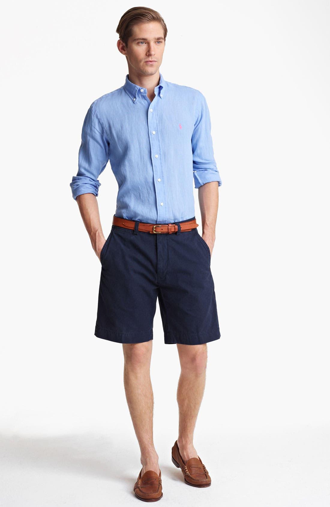 Alternate Image 4  - Polo Ralph Lauren Custom Fit Sport Shirt