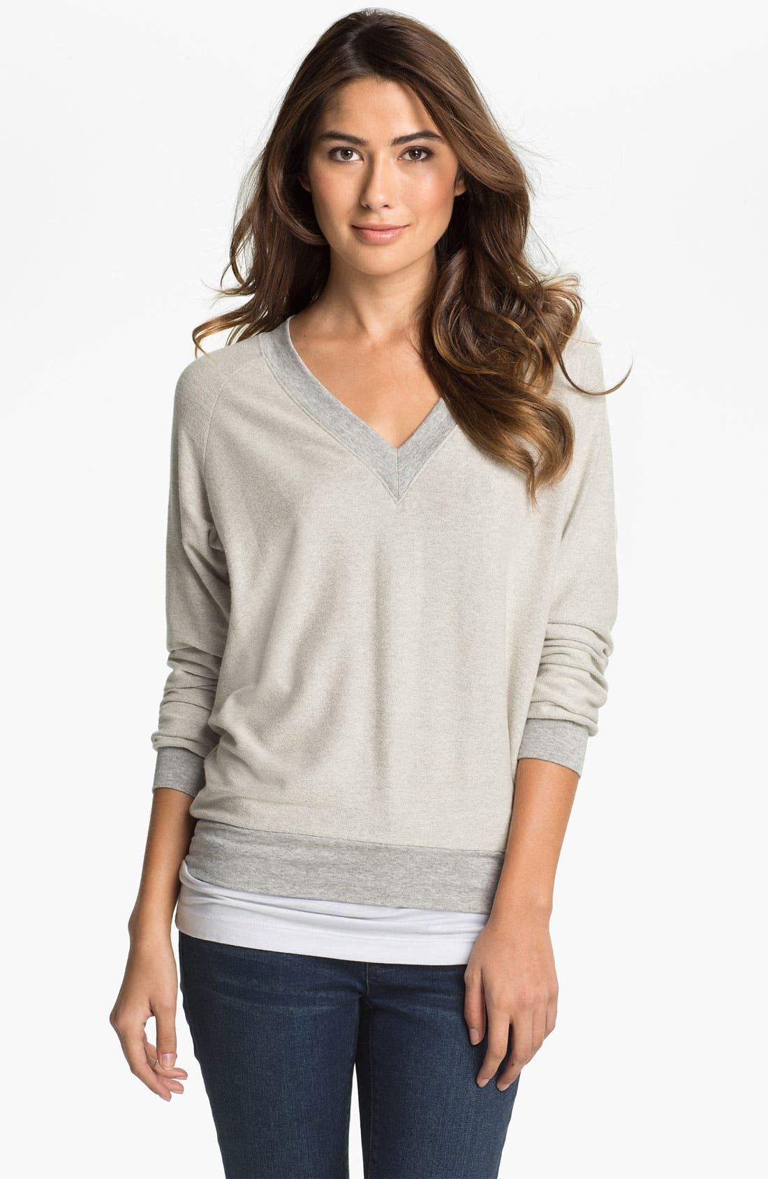 Main Image - Cielo 'Inside Out' V-Neck Sweatshirt