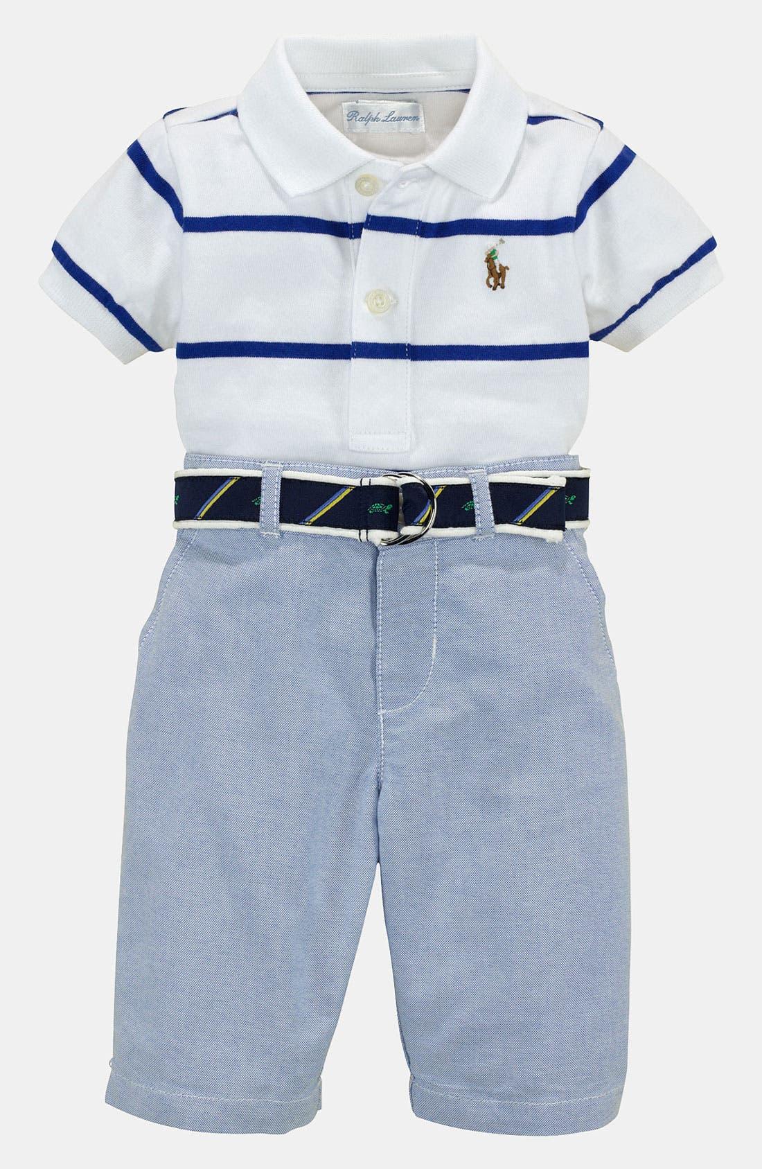 Alternate Image 2  - Ralph Lauren Polo & Pants (Baby)