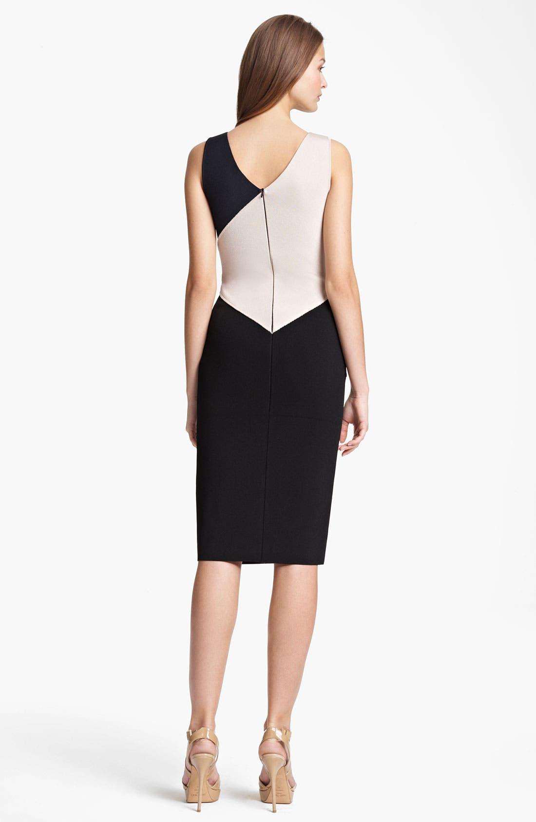 Alternate Image 2  - Oscar de la Renta Colorblock Knit Dress