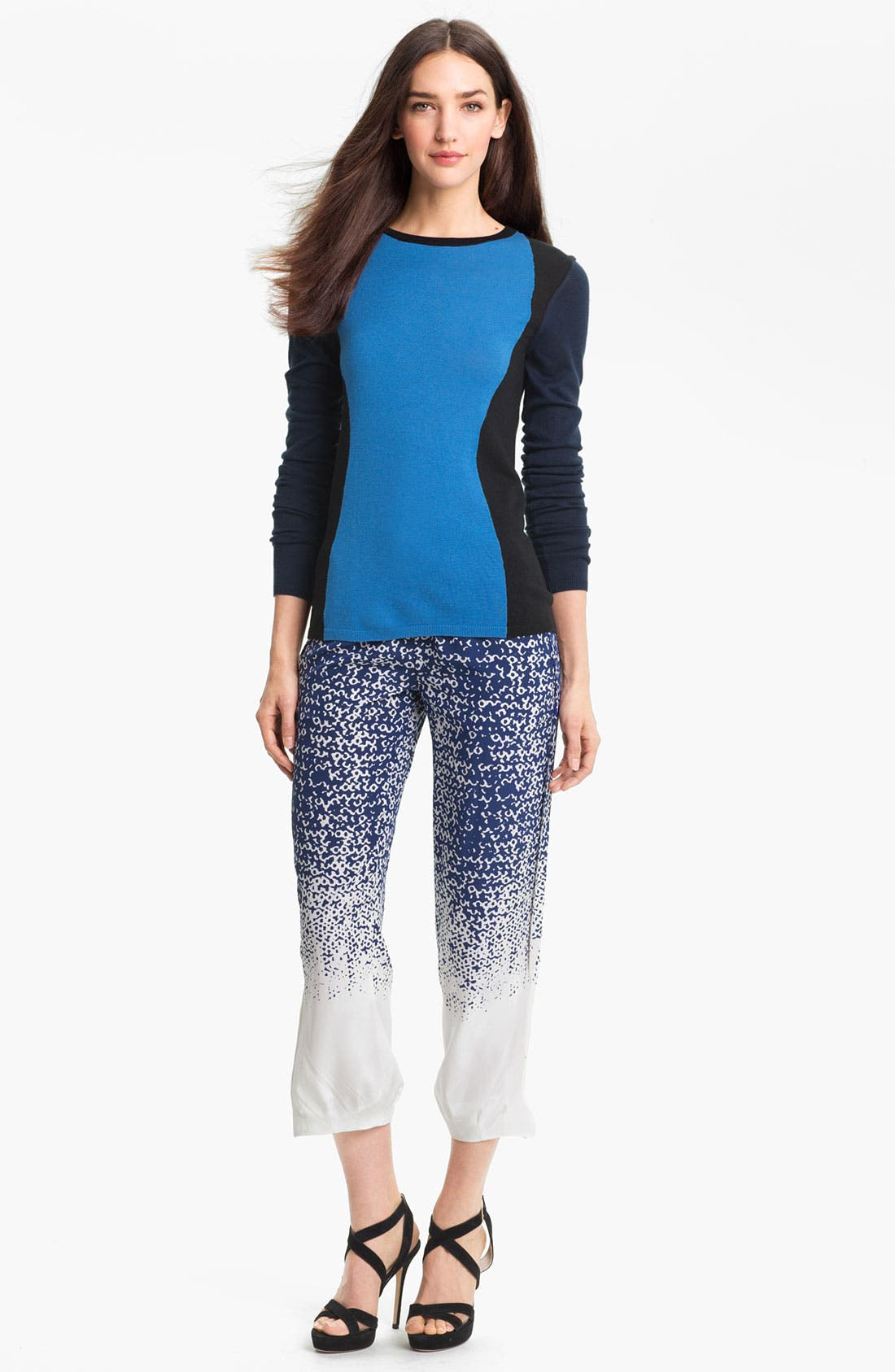 Alternate Image 4  - Diane von Furstenberg 'Kamaris' Crop Silk Pants