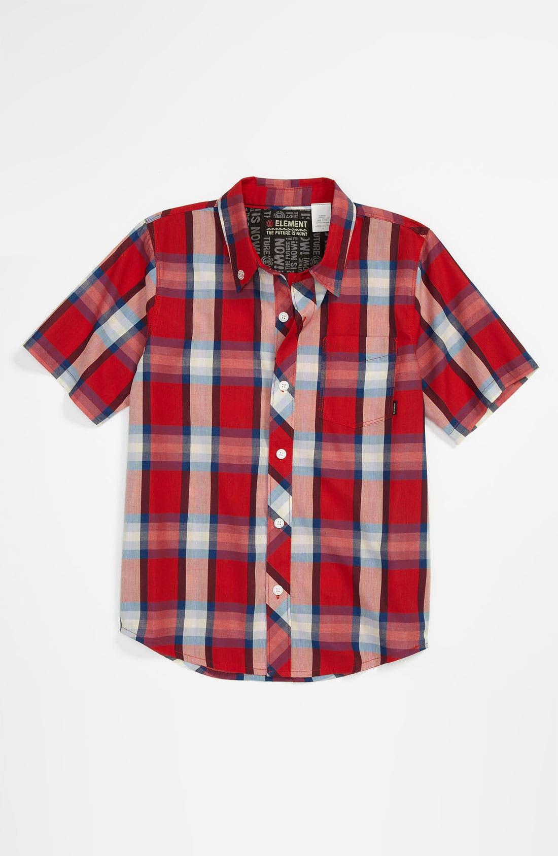 Alternate Image 1 Selected - Element 'Stanton' Woven Shirt (Big Boys)