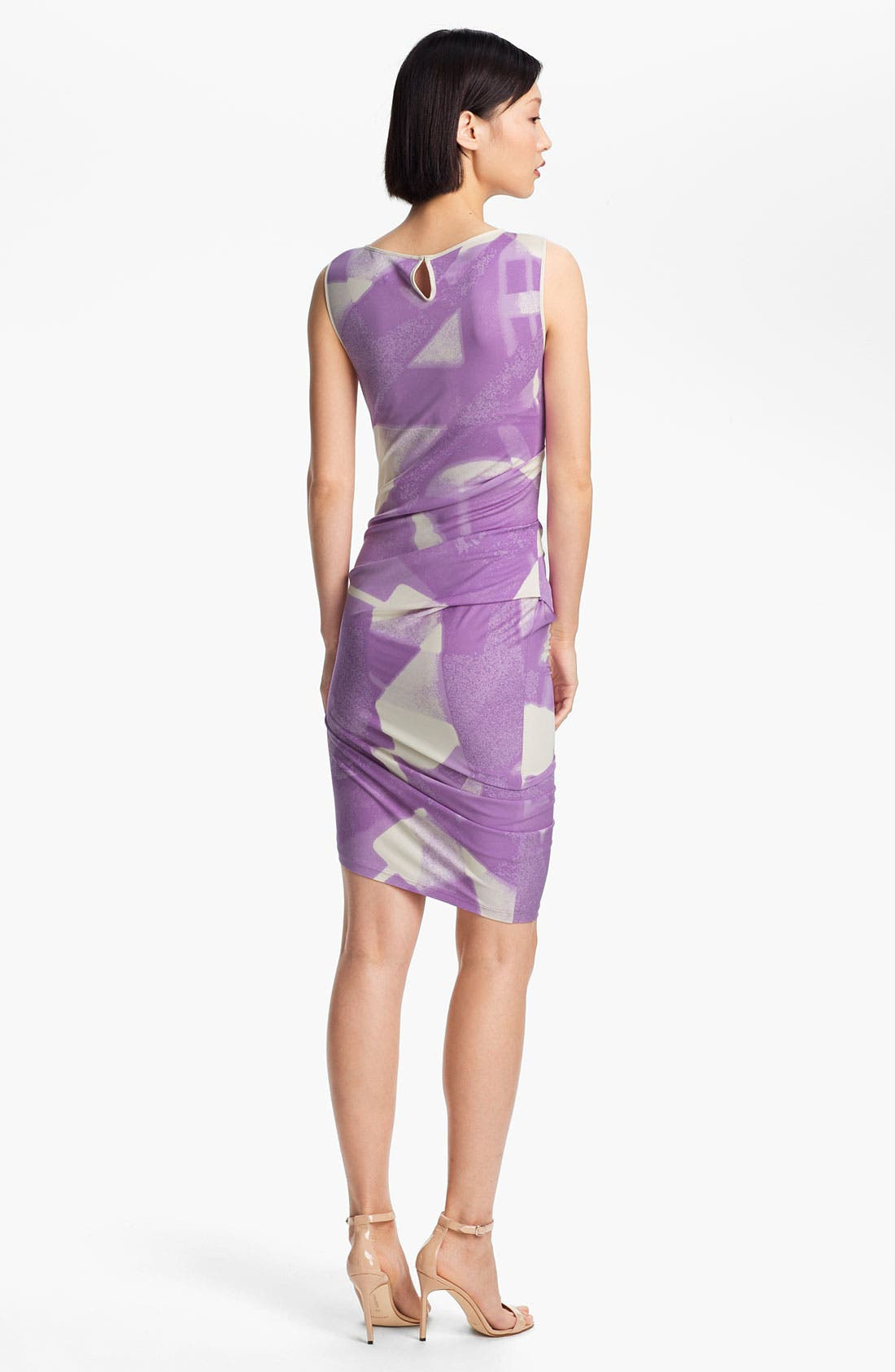 Alternate Image 2  - Halston Heritage Abstract Print Dress