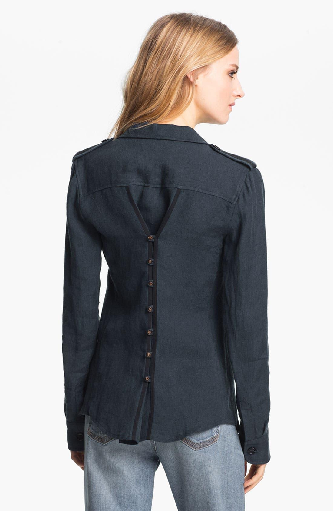 Alternate Image 3  - Elizabeth and James 'New Bedford' Rumpled Linen Jacket