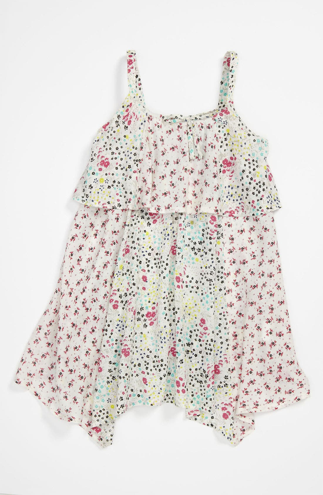 Alternate Image 1 Selected - Roxy 'See Me Out' Woven Tank Dress (Little Girls)