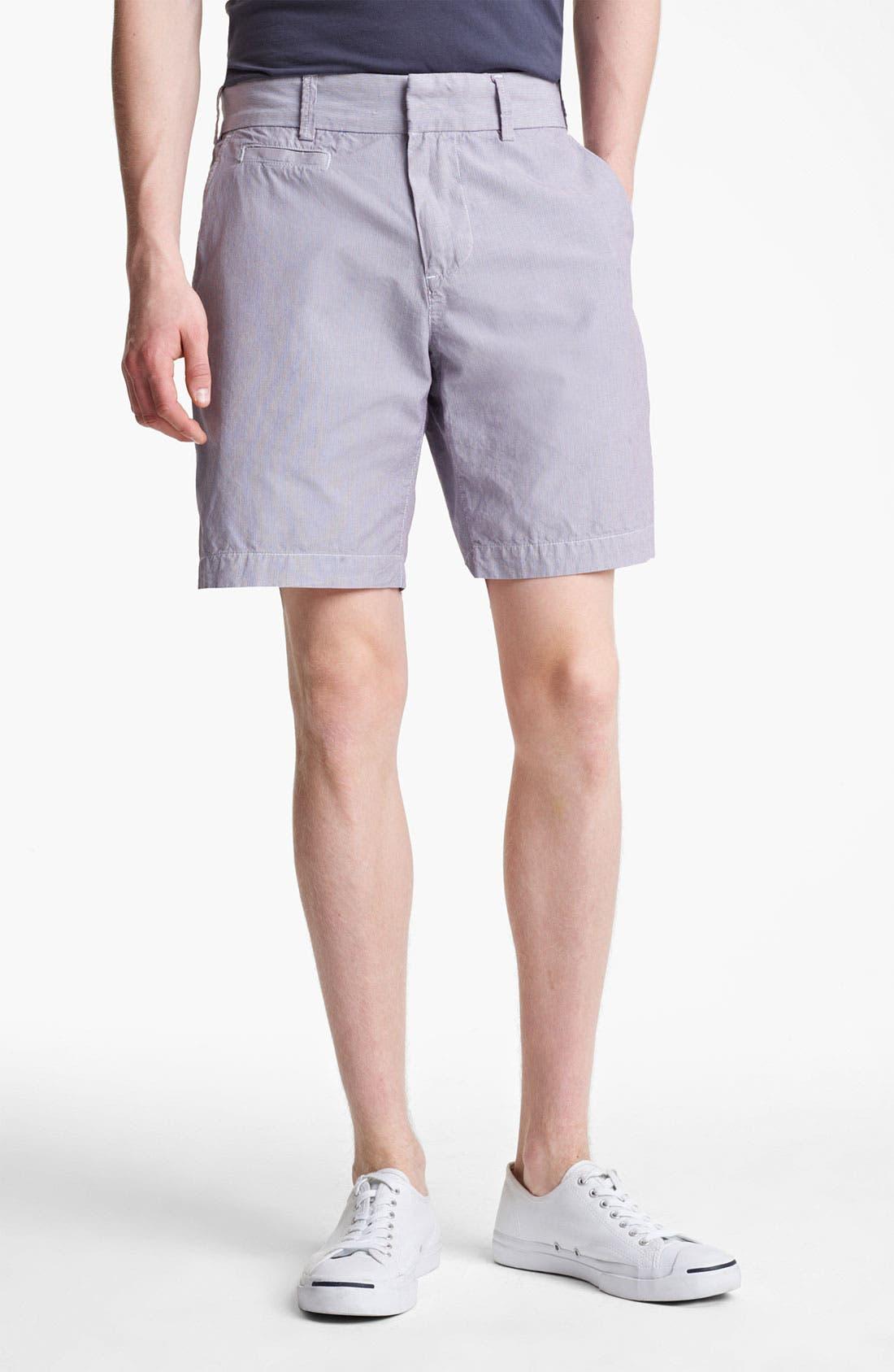 Main Image - Save Khaki Microstripe Bermuda Shorts