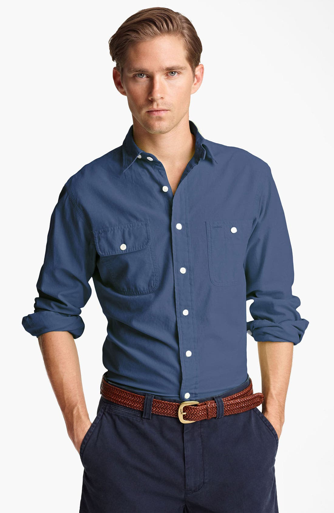 Main Image - Polo Ralph Lauren Custom Fit Chambray Sport Shirt