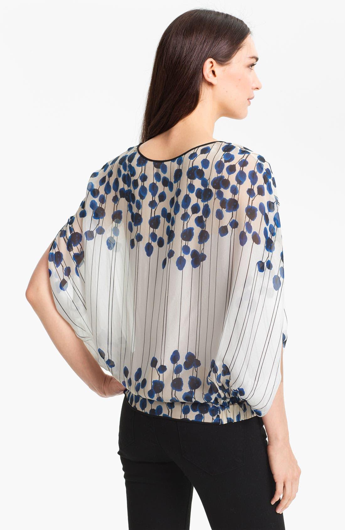 Alternate Image 2  - Diane von Furstenberg 'Robyn' Print Silk Blouse