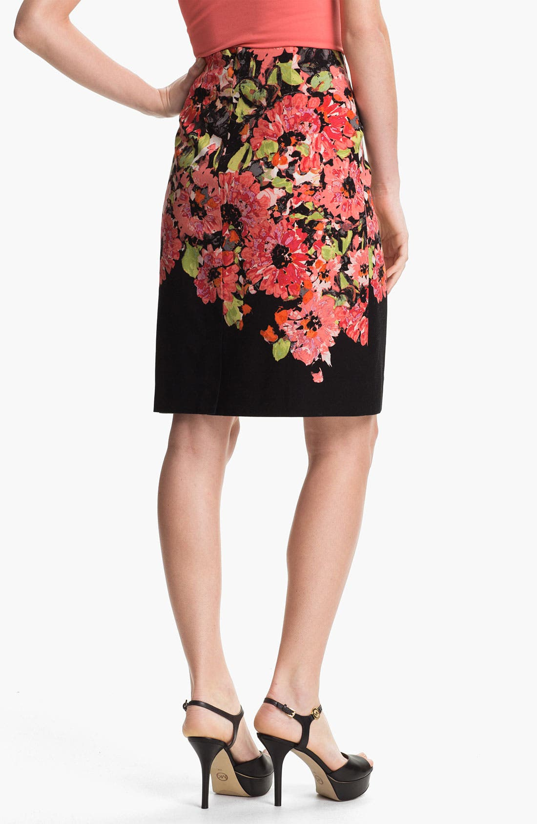Alternate Image 2  - Nic + Zoe Floral Print Pencil Skirt
