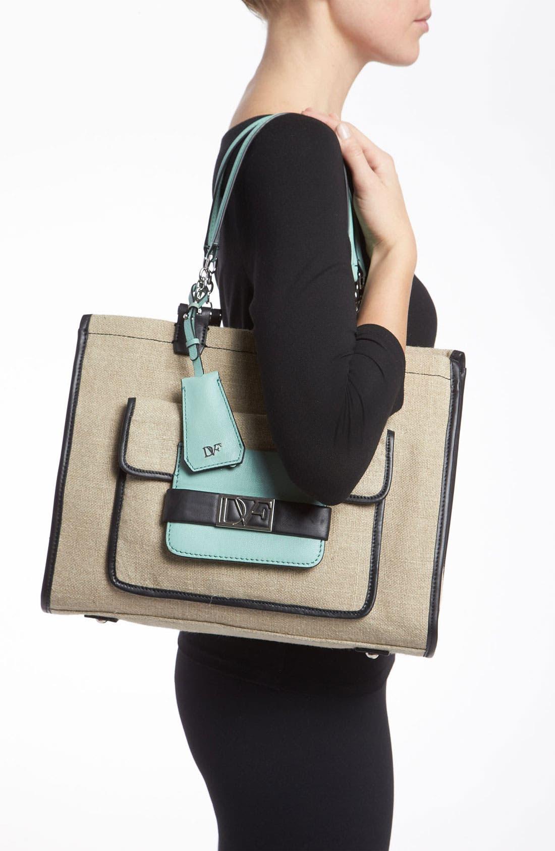 Alternate Image 2  - Diane von Furstenberg 'Lola' Linen Handbag