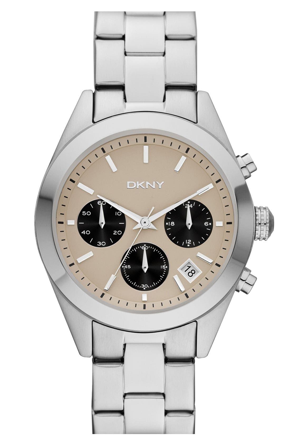Main Image - DKNY Round Bracelet Watch, 38mm