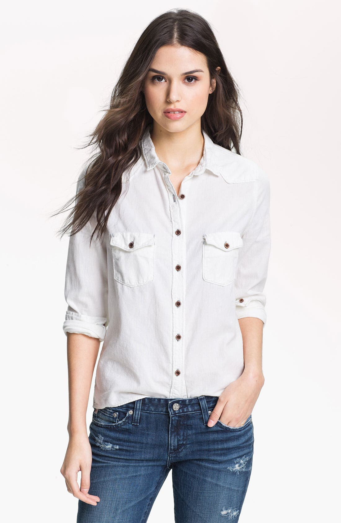 Alternate Image 1 Selected - Maison Scotch Western Denim Shirt