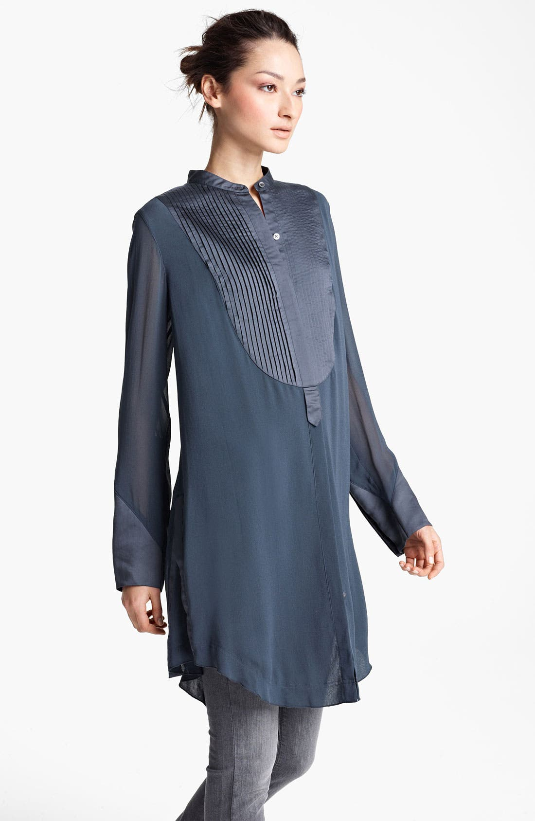 Main Image - Donna Karan Collection Silk Georgette Tunic