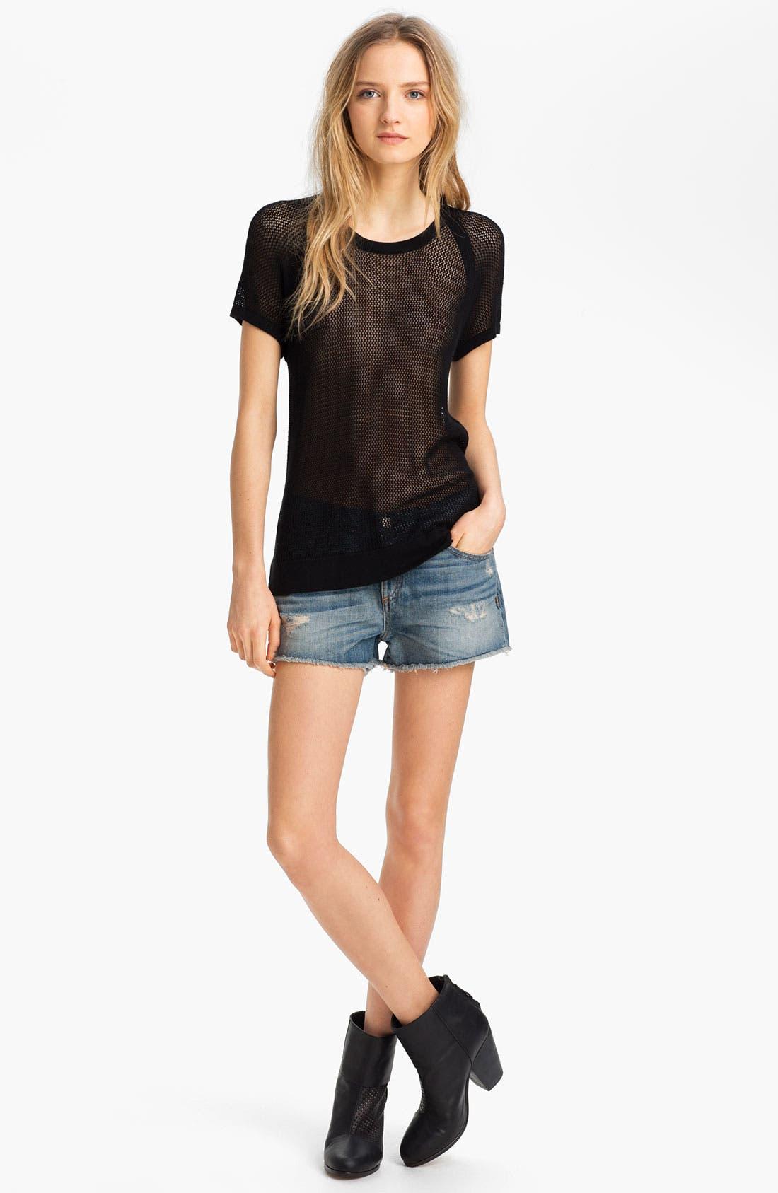 Alternate Image 3  - rag & bone/JEAN 'The Cutoff' Denim Shorts
