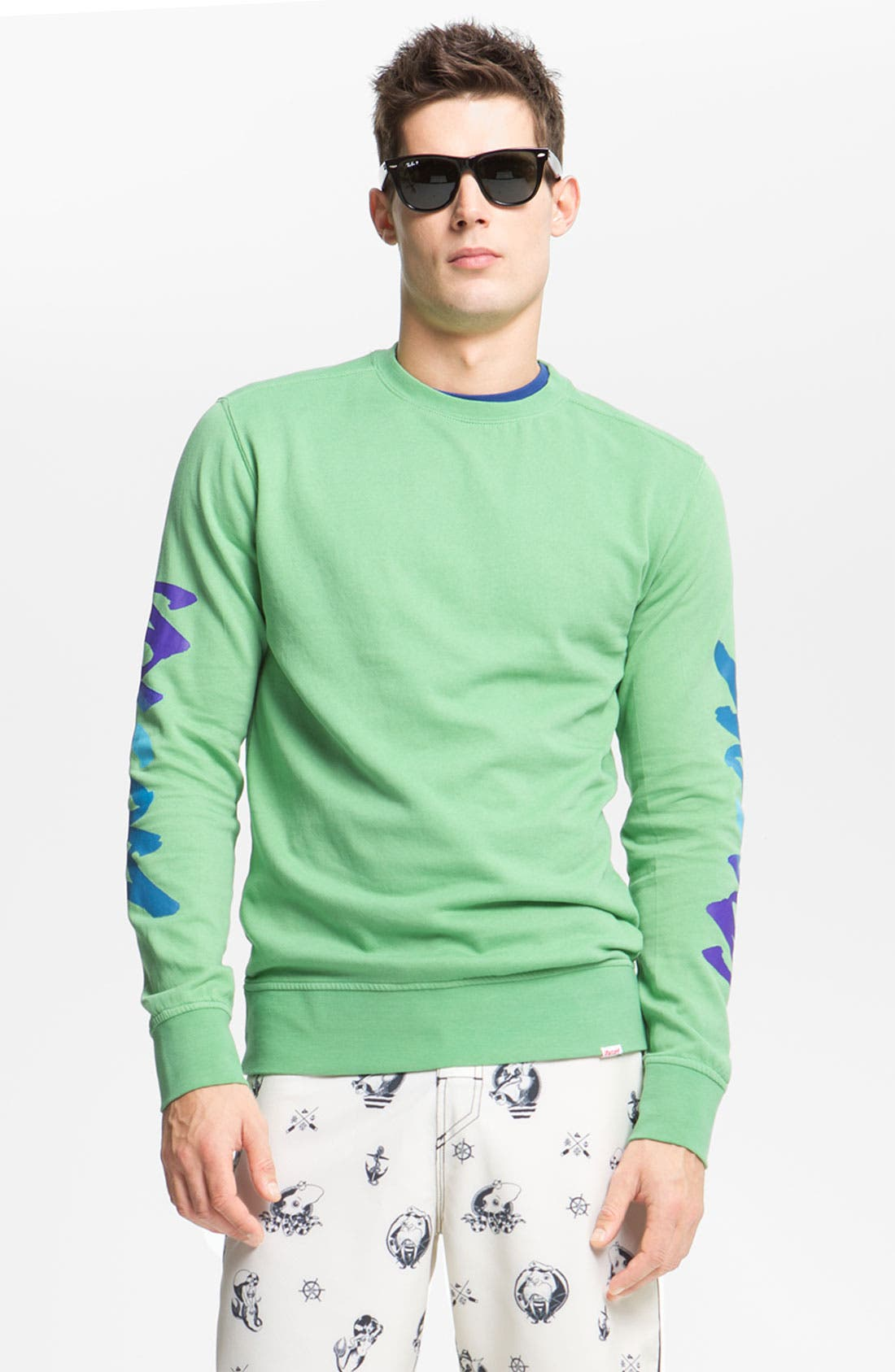 Alternate Image 1 Selected - Volcom 'Radikal' Crewneck Sweatshirt