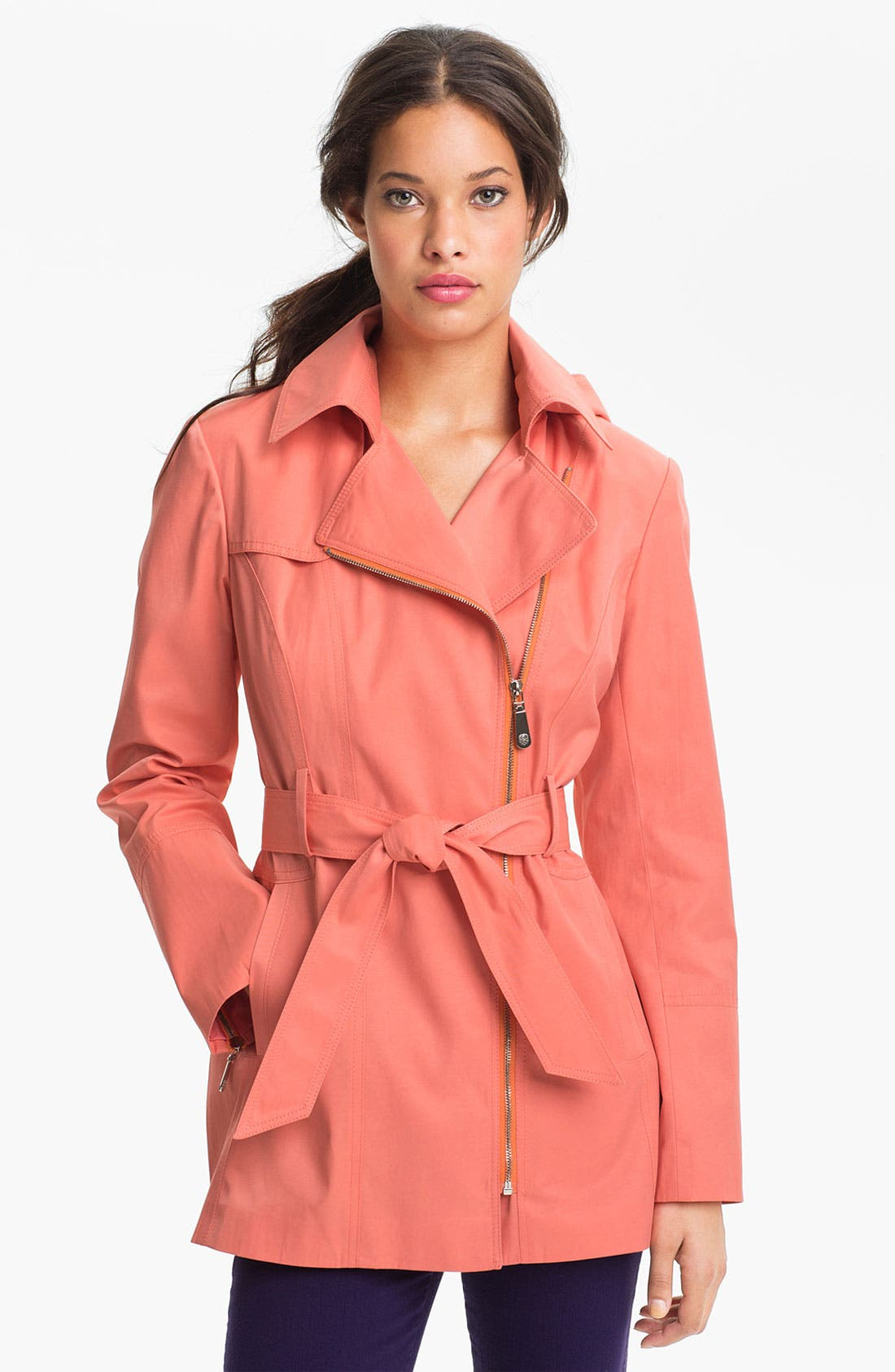 Alternate Image 1 Selected - Vince Camuto 'Ashley' Moto Trench Coat