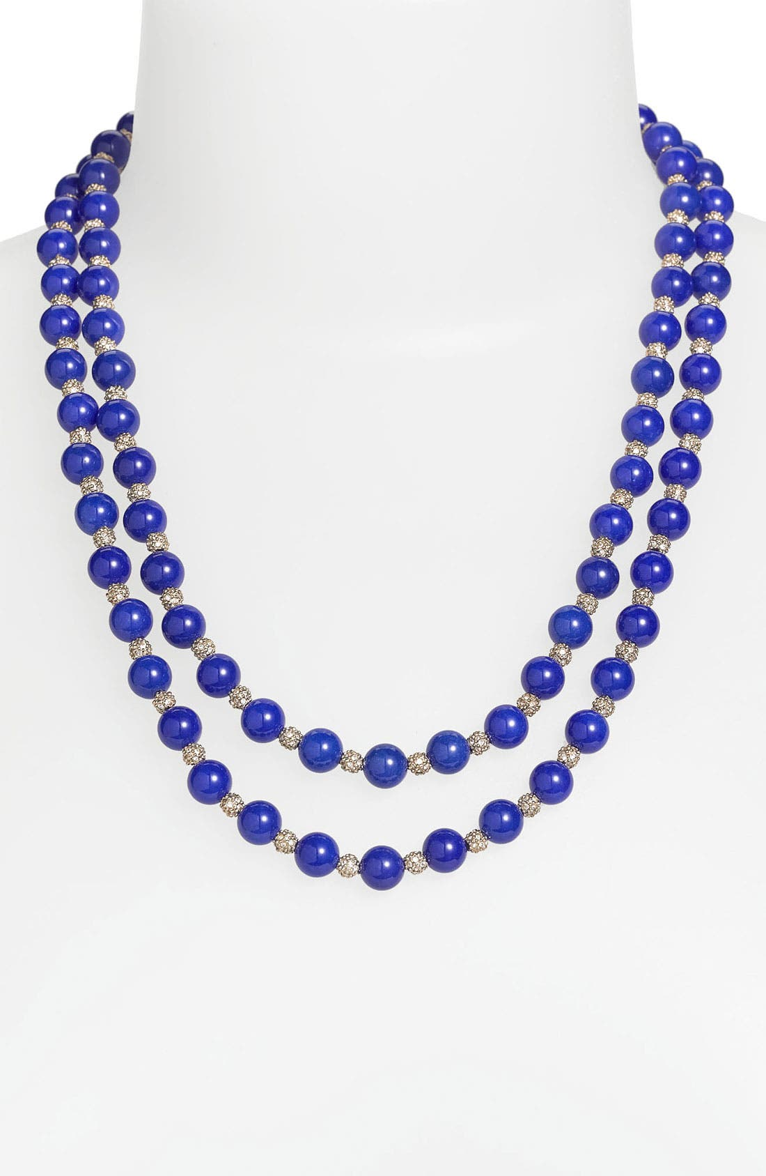 Alternate Image 1 Selected - St. John Collection Dyed Quartz Double Strand Necklace