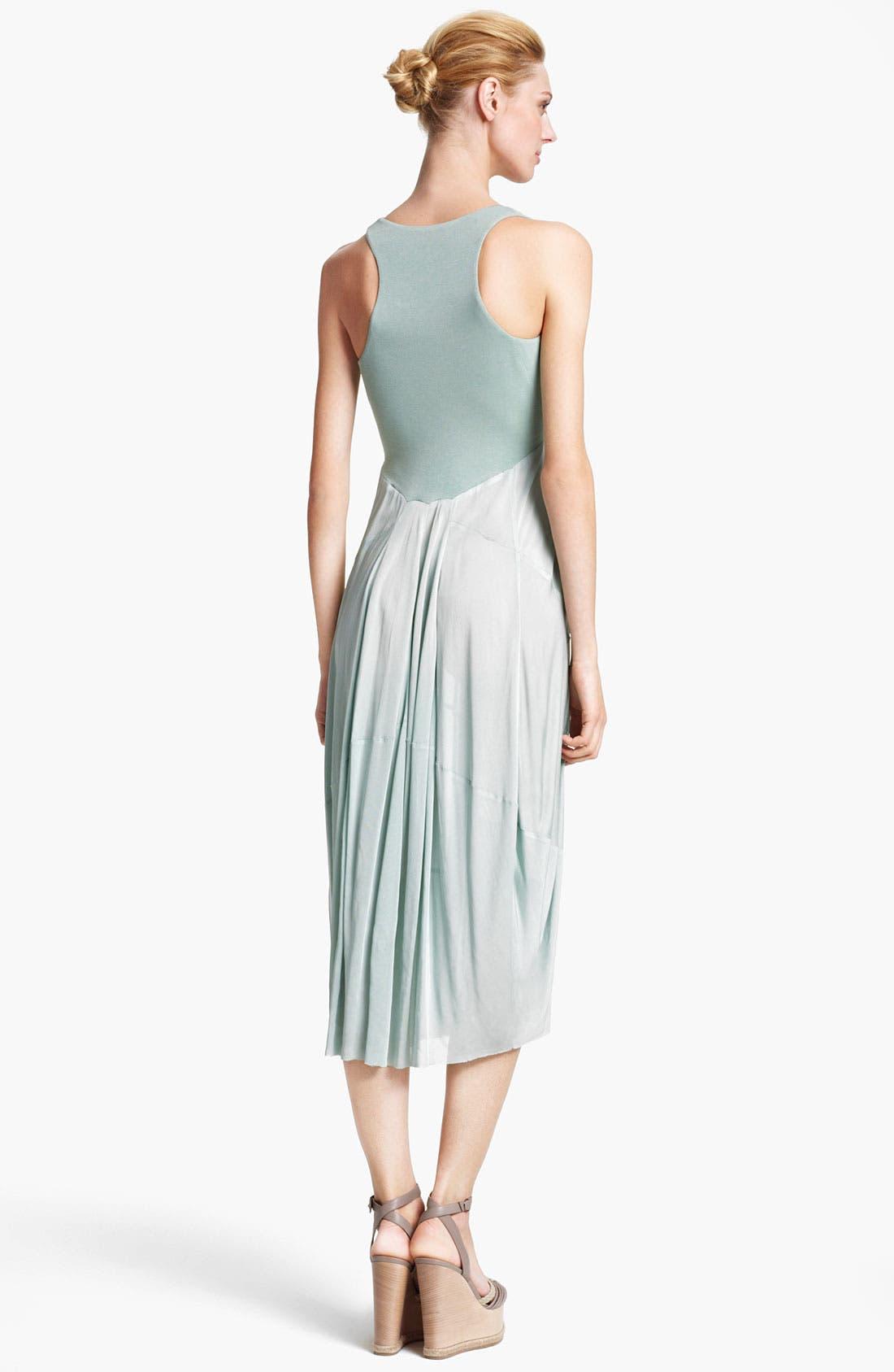 Alternate Image 2  - Donna Karan Collection Jersey & Crepe Dress