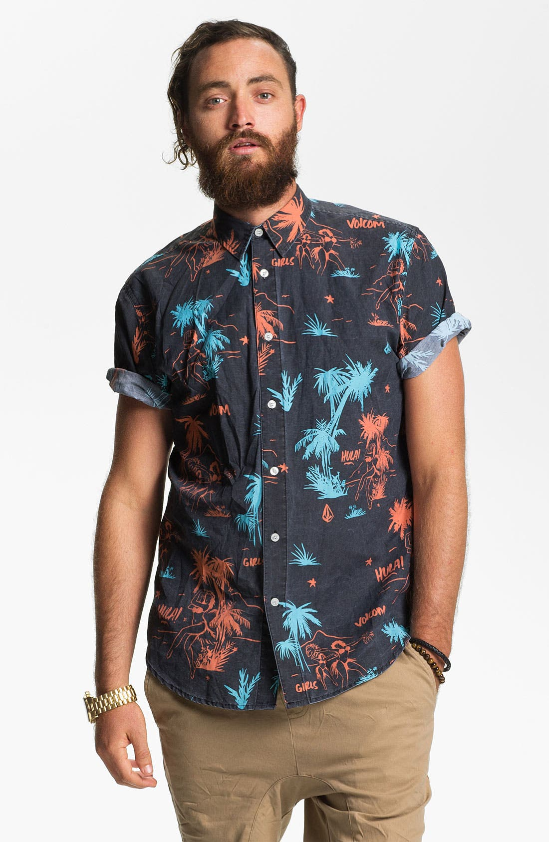 Main Image - Volcom 'Mental Fun' Print Woven Shirt