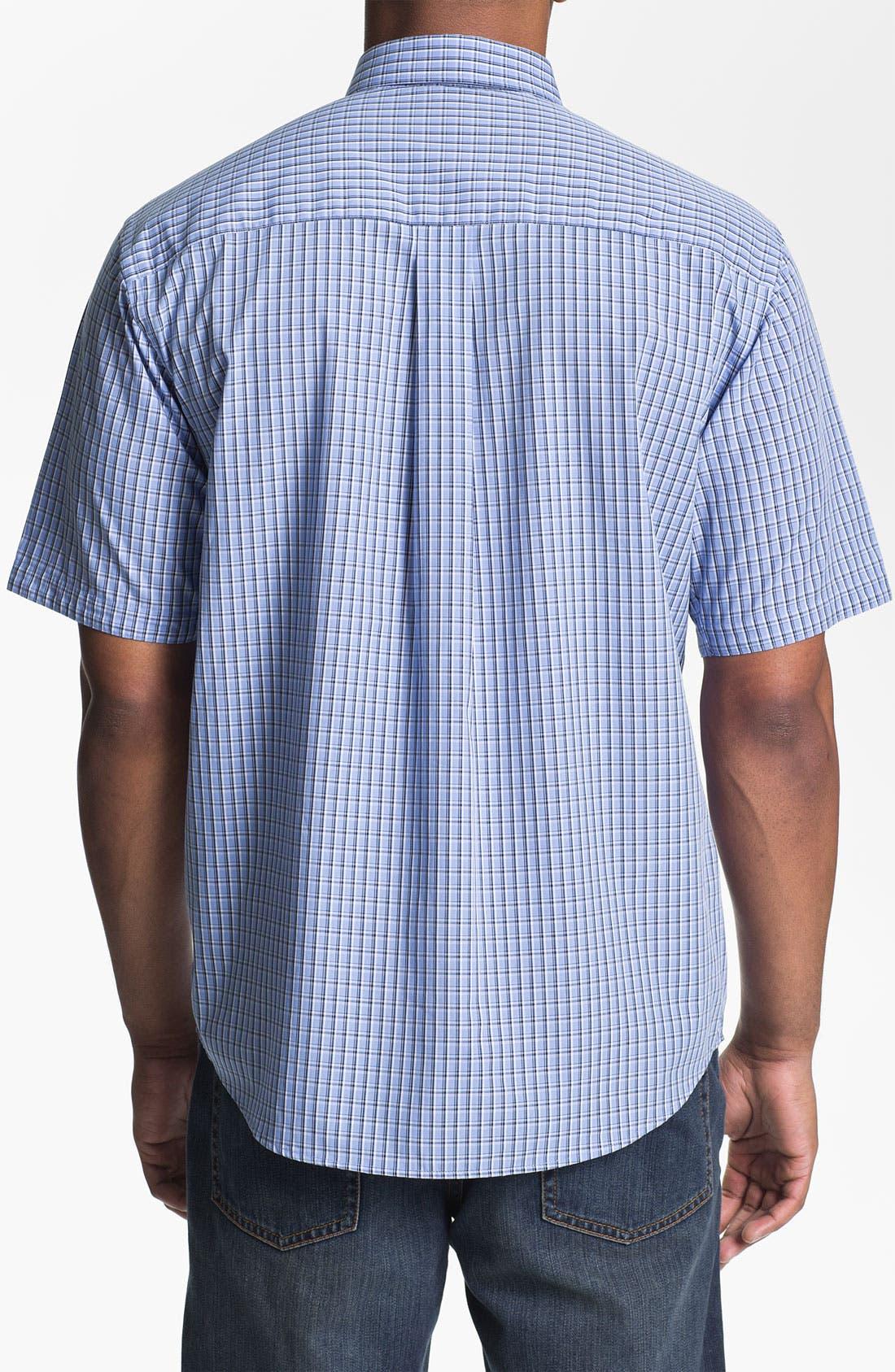 Alternate Image 2  - Cutter & Buck 'Sunset Hill' Check Sport Shirt (Big & Tall) (Online Only)