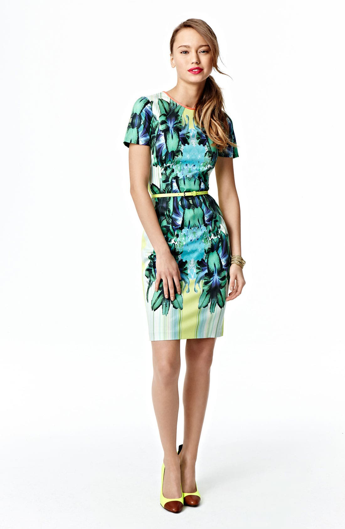 Alternate Image 4  - Elie Tahari 'Angie - Mirror Orchid' Dress