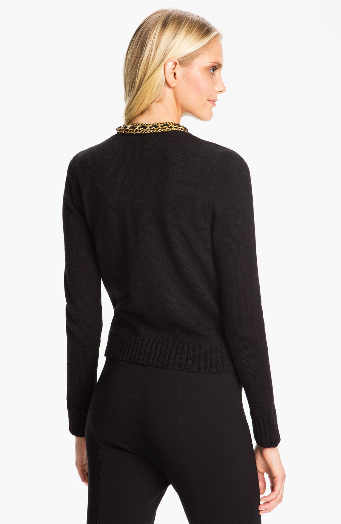 Alternate Image 2  - MICHAEL Michael Kors Chain Placket Cardigan (Petite)