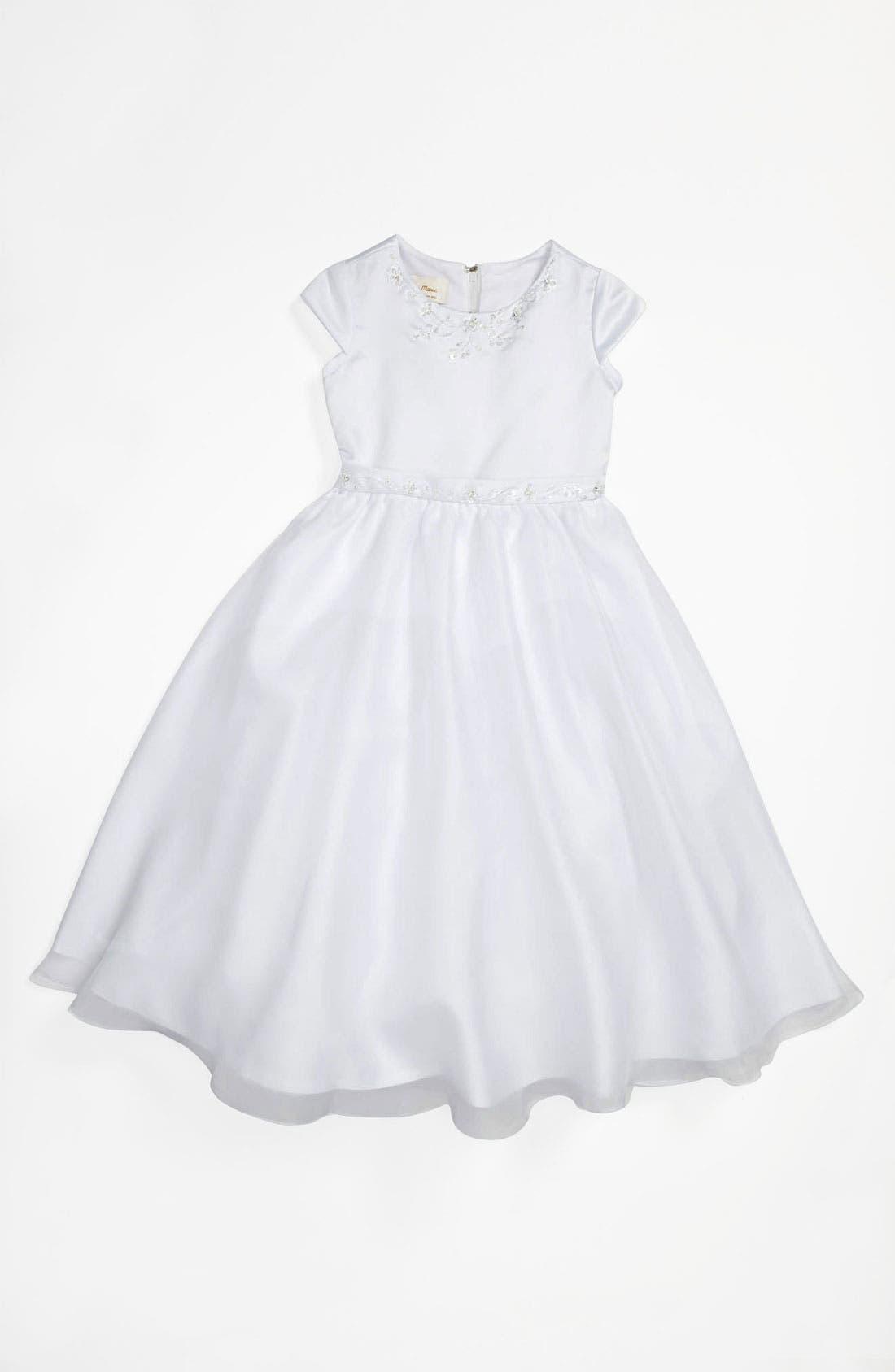 Alternate Image 1 Selected - Lauren Marie Beaded Dress (Little Girls & Big Girls)