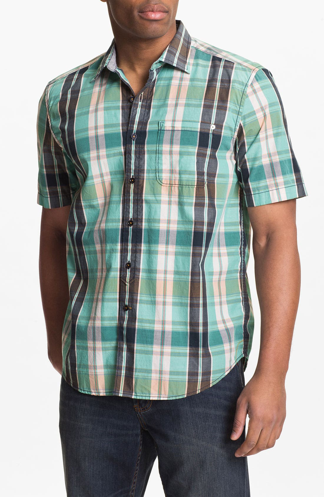 Alternate Image 1 Selected - Tommy Bahama Denim 'Pescadero Plaid' Sport Shirt
