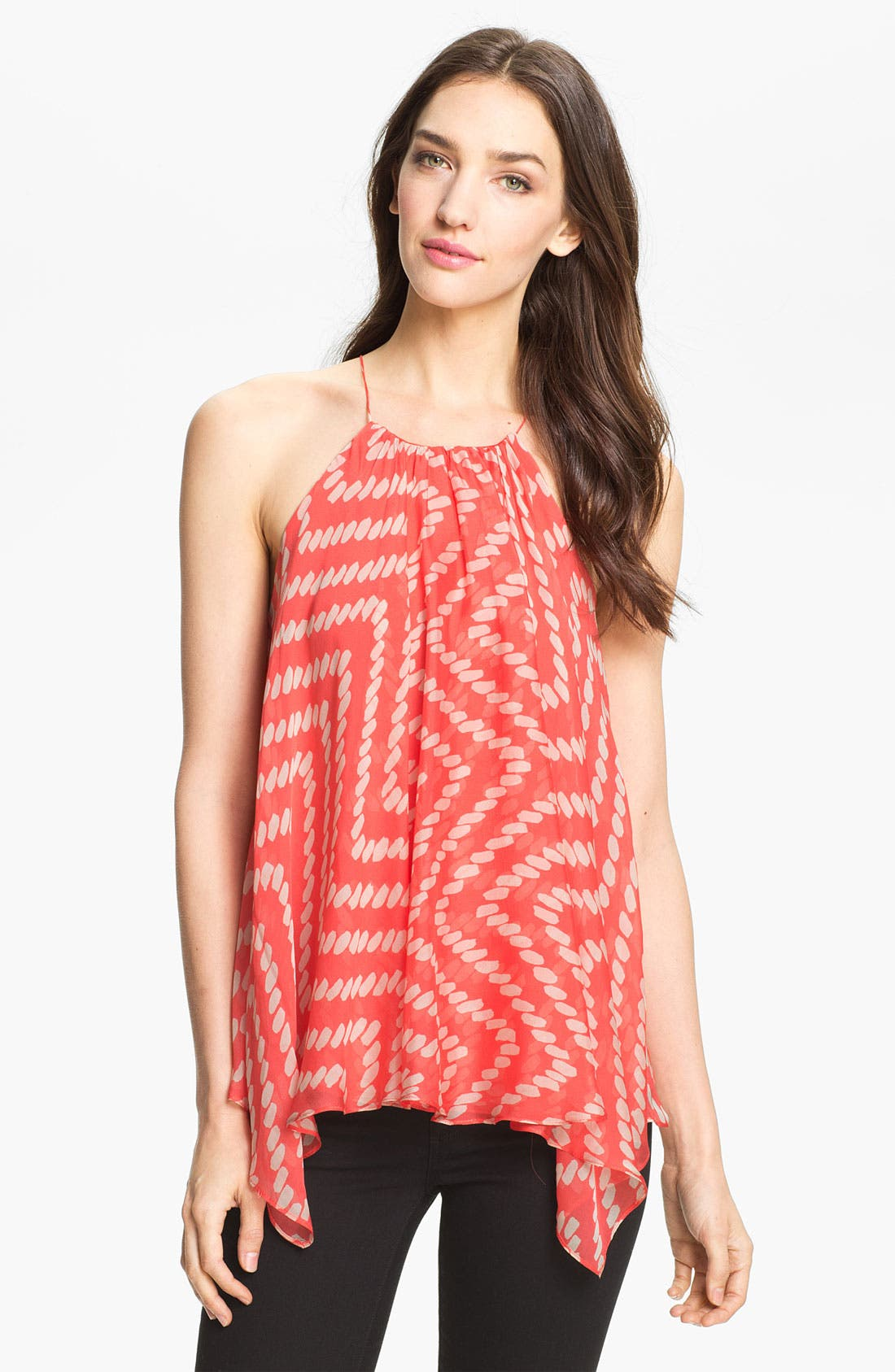 Main Image - Milly Trapeze Silk Tank