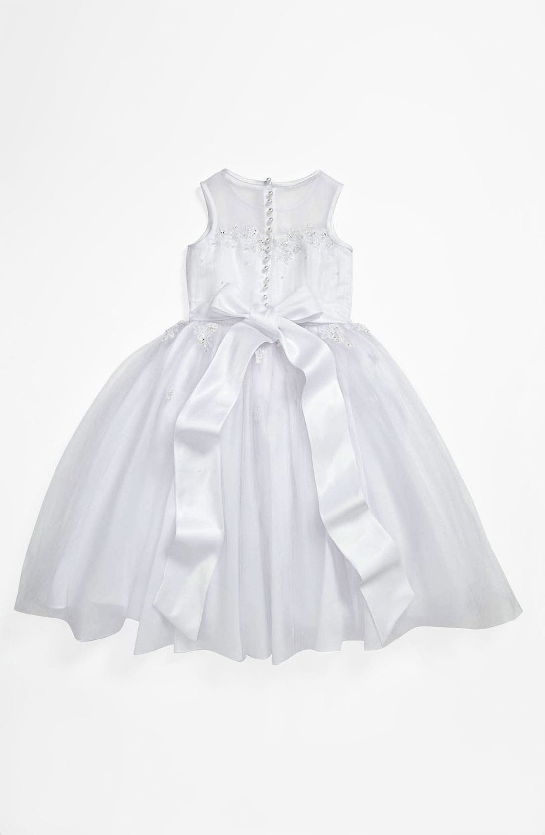 Alternate Image 2  - Lauren Marie Illusion Top Gown (Little Girls & Big Girls)
