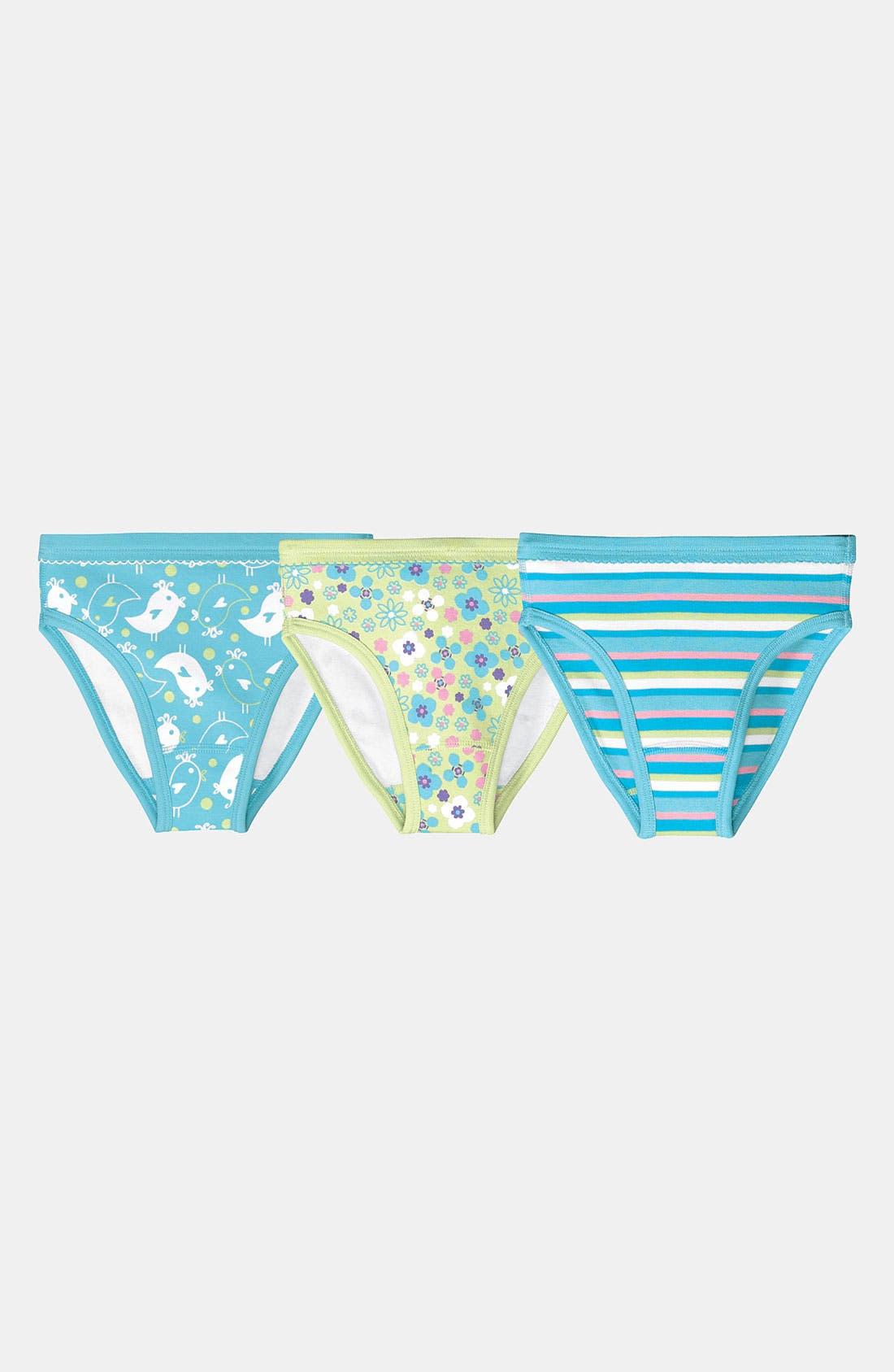 Main Image - Hanna Andersson Organic Cotton Hipster Underwear (3-Pack) (Little Girls & Big Girls)