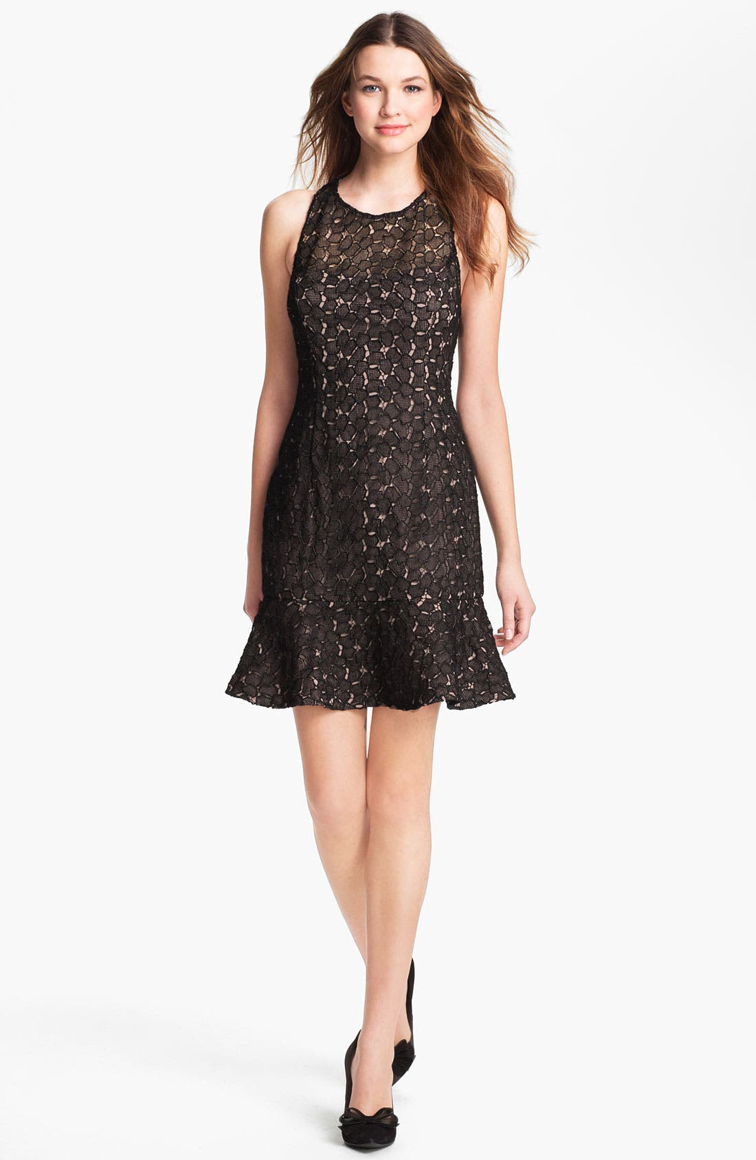 Main Image - Adrianna Papell Racerback Lace Dress