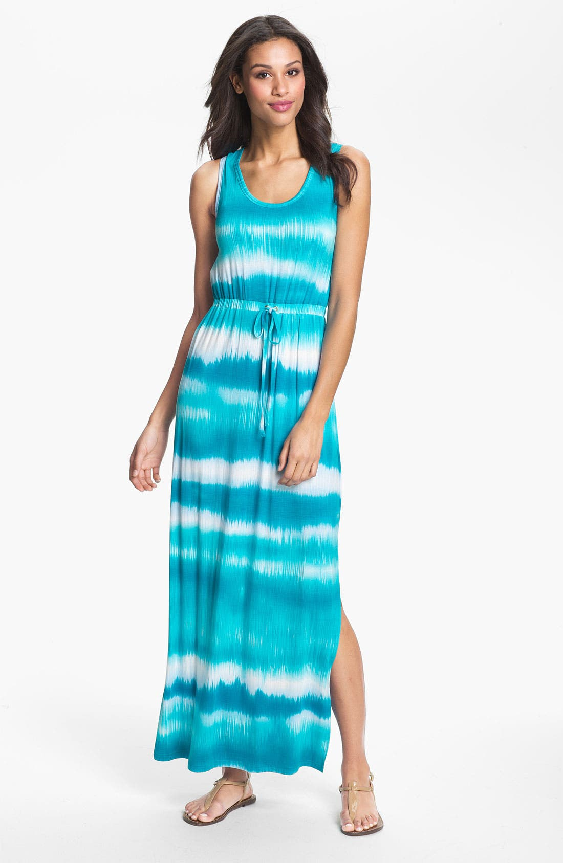 Alternate Image 1 Selected - Calvin Klein Racerback Tie Dye Tank Dress